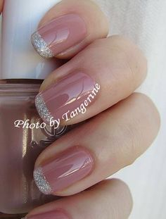 Love this manicure. Think I found my wedding nails! essie- Lyford Lilac The french tip is OPI paris coutour for sure Fancy Nails, Love Nails, How To Do Nails, My Nails, Style Nails, Gorgeous Nails, Pretty Nails, Essie, Nail Lacquer