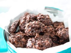 No-Bake Cookies With Chocolate Peanut Butter and Chewy Oats #hashtag