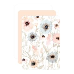 Precious Poppies - Signature Foil Wedding Invitations - Lady Jae - Cashmere Pink - Pink : Front