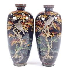 Tree Roots, Wednesday, June, Enamel, Japanese, Pairs, Antiques, Stuff To Buy, Antiquities