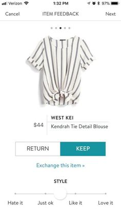 StitchFix like the crew neckline! Seems like most tops are v-necks - Knot T Shirt - Ideas of Knot T Shirt - StitchFix like the crew neckline! Seems like most tops are v-necks and I prefer crew necks. I like the style and the stripes. Stitch Fix Fall, Stitch Fit, Fix Clothing, Clothing Ideas, Tshirt Knot, Stitch Fix Outfits, Stitch Fix Dress, Stitch Fix Stylist, Look Cool