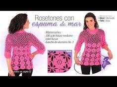 Blusa de rosetones - YouTube