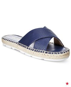 Whether it's for vacation or a patriotic bash, these blue criss-cross espadrille sandals are something you should add to your summer collection — stat! Shop now!