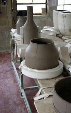 Ceramic Centerpieces by Benjamin Hubert and the iconic Italian ceramic manufacturer Bitossi Ceramiche
