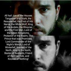 Jon Snow of the House Targaryen