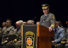 The Pennsylvania State Police graduated their 144th Cadet class in the auditorium of Bishop McDevitt High School on Friday, March 18, 2016.  Daniel Zampogna, PennLive