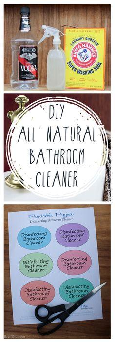 DIY All Natural Bathroom Cleaner -