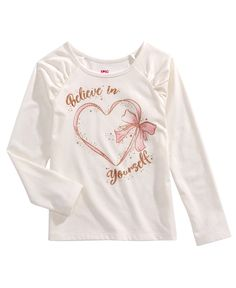 Epic Threads Toddler Girls Glitter Believe T-Shirt, Created for Macy's - Oatmeal Heather Cute Little Girls Outfits, Teen Girl Outfits, Plus Size Designers, Plus Size Shopping, Lingerie, Printed Shirts, Kids Fashion, Sweatshirts, T Shirt