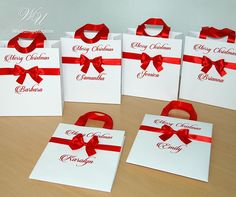 Custom personalized Merry Christmas gift bags  Holiday Gift Elegant Birthday Party, Birthday Party Favors, Custom Gift Bags, Christmas Gift Bags, Holiday Gifts, Merry Christmas, Wedding Welcome Bags, Guest Gifts, Party Guests