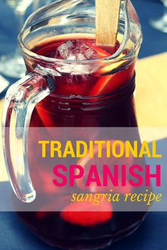 My absolute favorite traditional Spanish sangria recipe! This is SO SIMPLE but extremely delicious, and also flexible-- so you can add in other bits if you want! spanishsabores.co...