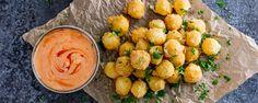 crispy mozzarella bites honey sriracha mayo 1