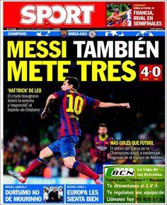 Los Titulares y Portadas de Noticias Destacadas Españolas del 19 de Septiembre de 2013 del Diario Sport ¿Que le pareció esta Portada de este Diario Español?