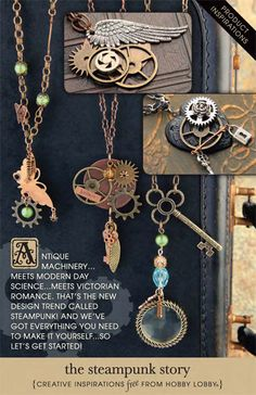 Antique machinery meets modern-day science meets Victorian romance...it's steampunk DIY! Try these projects to add to your collection.