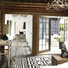 Monochromatic decor inside of a #rustic chic mountain home #interior