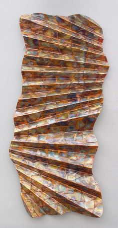 Another Folded Wavy Woven Rectangle by John Searles