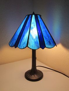 Stained Glass Lamp by nlsglass on Etsy, $145.00