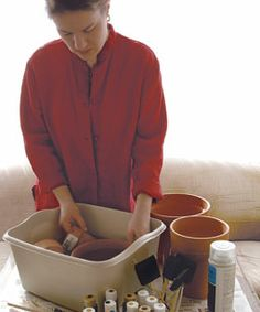 Painting terra cotta http://www.finegardening.com/how-to/articles/painting-clay-pots.aspx