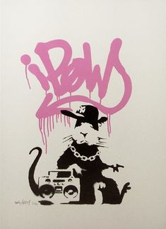 Banksy is unquestionably the most famous urban artist to have emerged from the British Street scene.