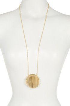 Trina Turk Long Fringe Pendant Necklace
