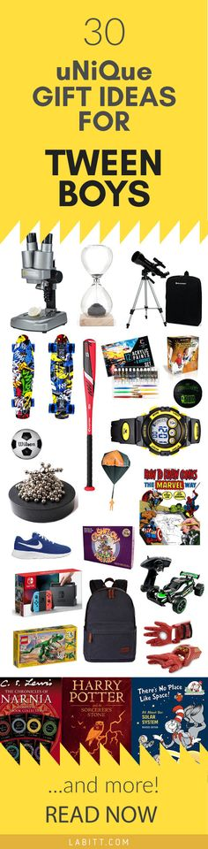 Don't miss this list of 30 Practical Gift Ideas for Tween Boys. From sports gifts to stem gifts and toys, if you're looking for a gift for a boy aged 8-14, you WILL find inspiration in this gift guide. Be sure to check it out and let me know what do you think of the recommended tween boy gifts below. Gift ideas for a boy's birthday, Christmas, or just because.