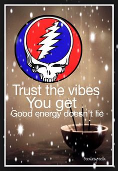 Trust the vibes. I swear i'll never forget again. Grateful Dead Shows, Grateful Dead Image, Grateful Dead Poster, Grateful Dead Quotes, Hippie Peace, Hippie Love, Opinions Are Like, Just Smile, Smile Smile