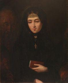 """""""Humility"""" by Tadeusz Gorecki (Polish;1825-1868), oil on canvas; Lietuvos Meno Fondas."""
