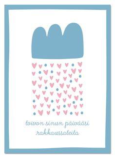 Pilviraitti postikortti - rakkaussade