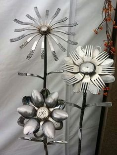 What thought process do you go through to come up with the idea of flowers made of kitchen utensils?