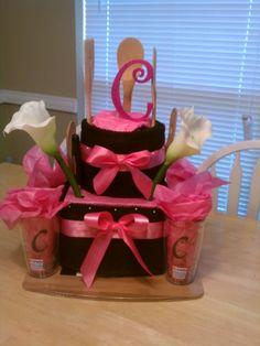Bridal Shower Dish Cloth Cake cute-gifts