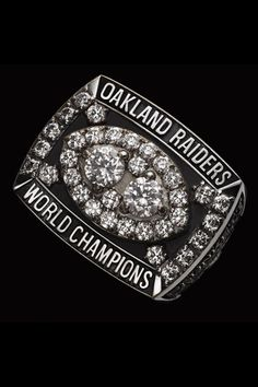 The Raiders remembered the Steelers' insult, which was forever frozen in their opponent's Super Bowl ring. The Steelers 1979 Super Bowl ring had 30 diamonds. The Oakland Raiders had Photo courtesy NFL Oakland Raiders Super Bowl, Oakland Raiders Football, Nfl Championship Rings, Nfl Championships, Raiders Stuff, Raiders Fans, Super Bowl Rings, Raider Nation, National Football League