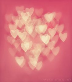 Pink bokah hearts for a magical Valentine's Day.