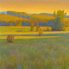 ☼ Painterly Landscape Escape ☼ landscape painting by Ian Roberts, West from Heathcote