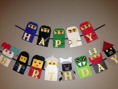 Lego Ninjago fiesta decoracion Lego Ninjago banderin Lego