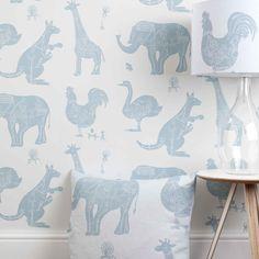 White Blue Machine Animal Wallpaper for Children | How It Works | PaperBoy Wallpaper