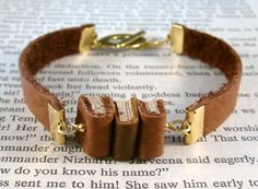 Miniature Book Bracelet The Stacks Stack of Three by JanDaJewelry