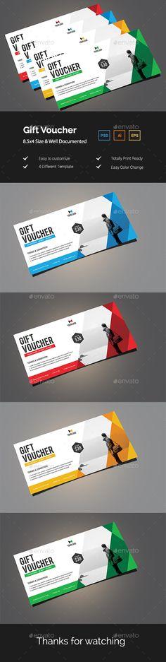 Gift Voucher Template PSD, Vector EPS, AI Illustrator