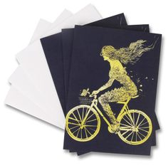 Mermaid Cycling Notecards