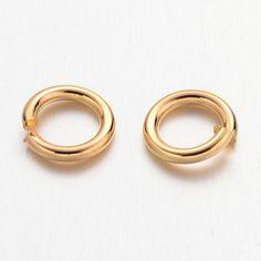 Gold Jump Ring 6MM  QTY 200  (JR-200) by CarolinaFindingsEtc on Etsy