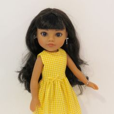 Hearts for Hearts Doll Clothes  Yellow Checked by AmericAnnMade, $12.00