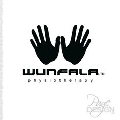"""Wunfala Physiotherapy (""""One fellow"""") UK Page Design, Graphic Design, Logos, Logo, Visual Communication"""