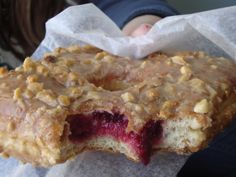 Peanut Butter Jelly Donut from the Donut Plant in NYC.