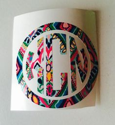 We love these super preppy monogram decals! Theyll look great on your notebooks, binders, computers, & more! This can also work as a car decal