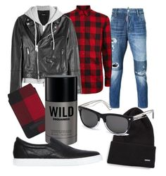 """""""Dsquared2"""" by renicherie on Polyvore featuring Dsquared2, mens, men, men's wear, mens wear, male, mens clothing and mens fashion"""