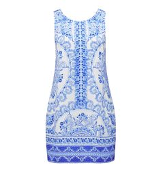 Karlie mirror printed shift dress