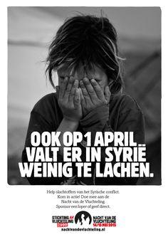 Inhaak advertentie - 1 April - voor Stichting Vluchteling.