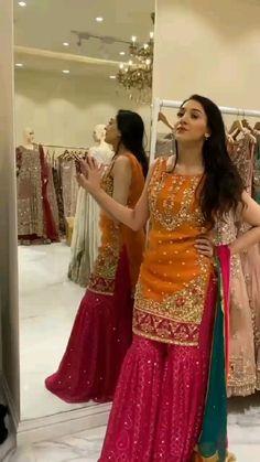 Pakistani Party Wear Dresses, Asian Bridal Dresses, Pakistani Wedding Outfits, Indian Bridal Outfits, Pakistani Dress Design, Dress Indian Style, Indian Fashion Dresses, Indian Designer Outfits, Fancy Dress Design