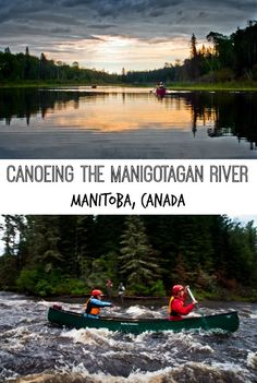 A canoeing adventure on the Manigotagan River, Manitoba, Canada. A day trip to Manigotagan River Provincial Park, north of Winnipeg, MB