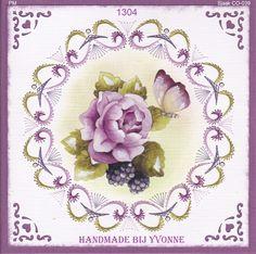 YBB 1304 Roos met vlinder