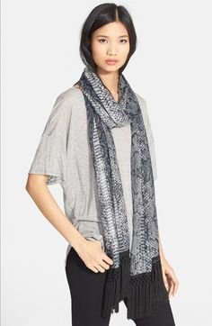 The Kooples Pleated Snake Print Scarf available at #Nordstrom