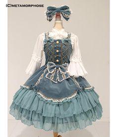 metamorphose temps de fille 別珍プリンセスリボンジャンパースカート